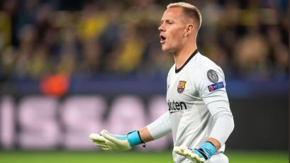 Ter Stegen evitó la caída del Barcelona frente al Borussia Dortmund