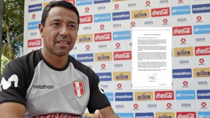 Nolberto Solano se disculpa ante todo el Perú mediante una carta