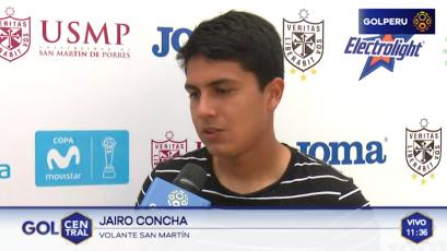 """Jairo Concha: """"Dejamos de lado el triunfo ante Sport Rosario y ya pensamos en Cristal"""""""