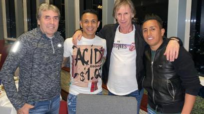 Ricardo Gareca se reunió con Yoshimar Yotún y Christian Cueva en México