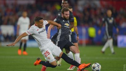 Champions League: Manchester United igualó sin goles ante el Sevilla