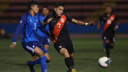 Selección Peruana Sub 23 venció por 2-0 a su similar de El Salvador en partido amistoso