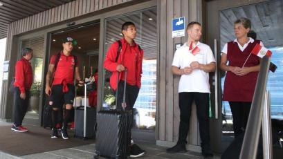 Selección Peruana llegó a Gotemburgo para enfrentar a Suecia