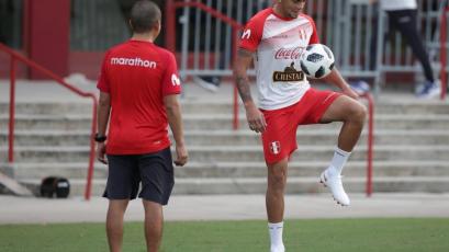 Con Alexander Callens, la selección peruana entrenó en Estados Unidos