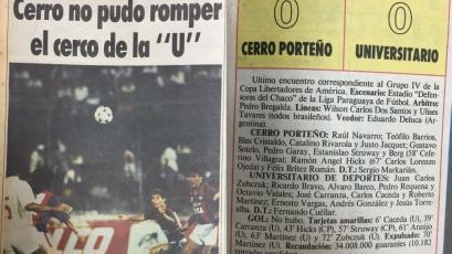 Así informó la prensa paraguaya la vez que Universitario clasificó ante Cerro en Asunción (FOTOS)