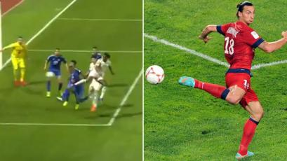 Christian Cueva vs André Carrillo: la 'Culebra' marcó golazo de taco a lo Zlatan Ibrahimovic (VIDEO)