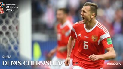 Rusia 2018: Cheryshev es el primer suplente que anota en un partido inaugural