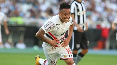 Christian Cueva regresa al once titular de Sao Paulo