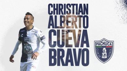 Christian Cueva jugó su primer partido con Pachuca y marcó 2 goles con el Sub-20