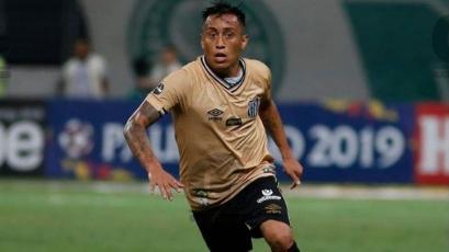 Christian Cueva tuvo minutos en dura derrota de Santos
