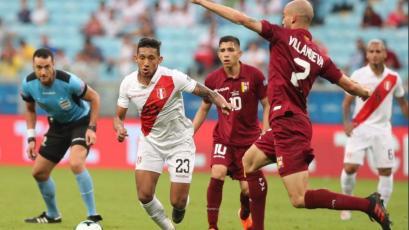CONMEBOL destacó a Christofer Gonzales por su actuación en el empate de Perú con Venezuela