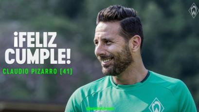 Claudio Pizarro cumplió 41 años mientras sigue en actividad con el Werder Bremen de Alemania