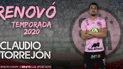 Sport Boys: Claudio Torrejón firmó su renovación y se mantiene para el 2020