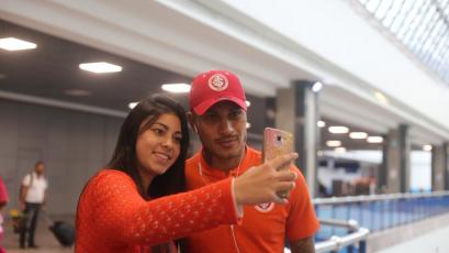 Copa Libertadores: Con Paolo Guererro a la cabeza, Internacional partió hacia Lima