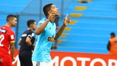 Cristian Palacios y su promesa a los hinchas de Sporting Cristal tras su hat-trick ante Huancayo