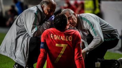 Cristiano Ronaldo se lesionó con Portugal y preocupó en la Juventus