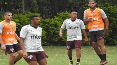 Christian Cueva volvió a entrenar esta mañana con Sao Paulo