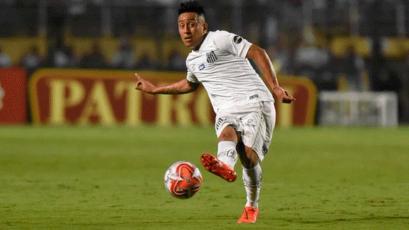 Christian Cueva volvió al once titular del Santos