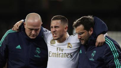 Eden Hazard volvió a caer lesionado y prácticamente se despidió de la temporada
