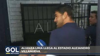 Alianza Lima: Luis Aguiar se reencontró con el plantel y llegó en el bus blanquiazul a Matute (VIDEO)