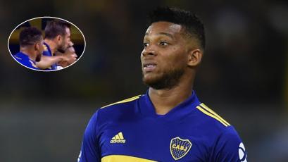 Boca Juniors: Frank Fabra le metió una cachetada a Carlos Izquierdoz en pleno partido (VIDEO)