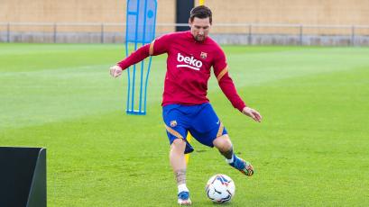 Barcelona: Lionel Messi entrenó junto con sus compañeros