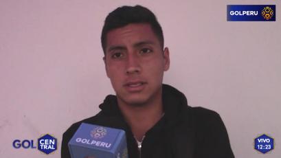 """Joaquín Aguirre: """"No jugamos bien ante Sporting Cristal"""""""