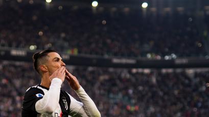 Cristiano Ronaldo anotó un hat-trick en la goleada de la Juventus (VIDEO)
