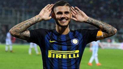 Mauro Icardi salvó al Inter con un penal a lo Panenka