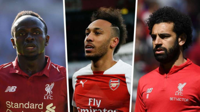 Salah, Mané y Aubameyang quedaron igualados como goleadores de la Premier