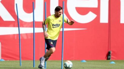 La Liga: con Lionel Messi a la cabeza, Barcelona volvió a los entrenamientos