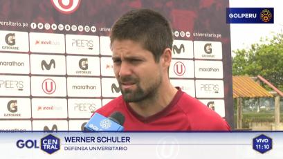 Werner Schuler sobre partido ante Unión Comercio: