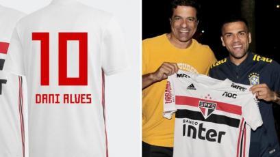 Dani Alves utilizará la 10 en Sao Paulo: su salario será mucho mayor al de Paolo Guerrero