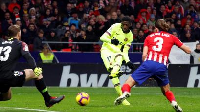 Barcelona rescató un punto sobre el final ante el Atlético Madrid