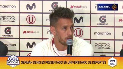Universitario presentó oficialmente a Germán Denis