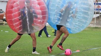 Deportivo Municipal y el curioso entrenamiento para llegar muy bien a la parte final del torneo (FOTOS)
