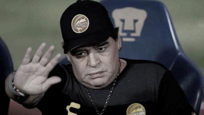 Diego Maradona renunció como DT al Dorados mexicano por motivos de salud