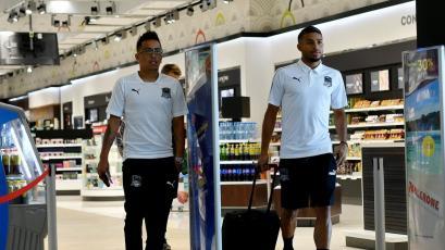 Christian Cueva llegó a Turquía para debutar en la Europa League