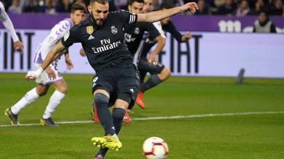 Karim Benzema le da la victoria al Real Madrid ante el Valladolid