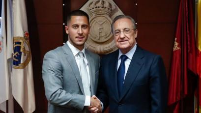 Eden Hazard en su presentación en el Real Madrid: