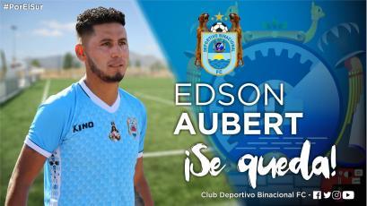 Edson Aubert seguirá en las filas de Deportivo Binacional