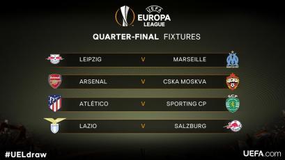 Europa League: se definieron los cuartos de final
