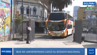 Universitario: Así fue el recorrido del bus para enfrentar a Sporting Cristal en el estadio Nacional (VIDEO)