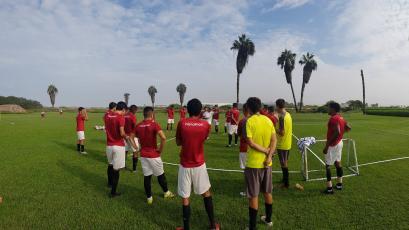 Universitario de Deportes sigue preparándose para el partido ante Sporting Cristal