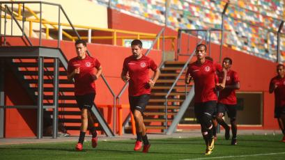 Universitario de Deportes realizó su último entrenamiento con miras al partido de vuelta de la Copa Libertadores