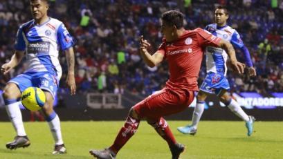 Anderson Santamaría participó de la victoria del Puebla