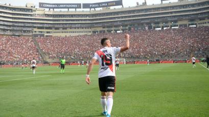 Rafael Santos Borré abrió el marcador en la final de la Copa Libertadores (VIDEO)
