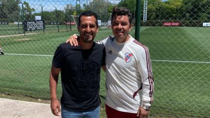 Renzo Sheput se reunió con Marcelo Gallardo en Argentina