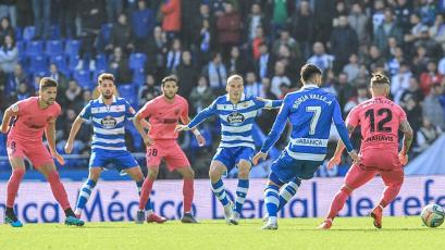 Deportivo La Coruña sigue de malas y cayó de local ante el Málaga sin Beto Da Silva