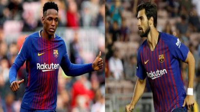 Barcelona hace oficial el traspaso de Yerry Mina y André Gomes al Everton